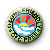 ozone friendly cfc free badge