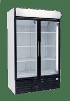 two door glass commercial fridge