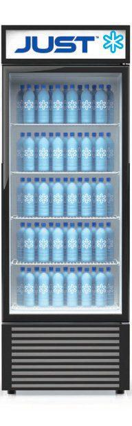 branded just fridge with branded bottles