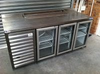 very small commercial fridge silver
