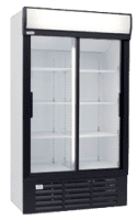 glass two door commercial fridge MPM1140SDE