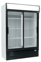 glass two door commercial fridge MPM1360SD