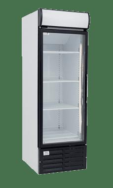 one door glass commercial fridge small