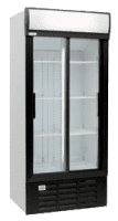 glass two door commercial fridge MPM890SDE