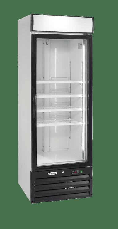 single door glass commercial fridge