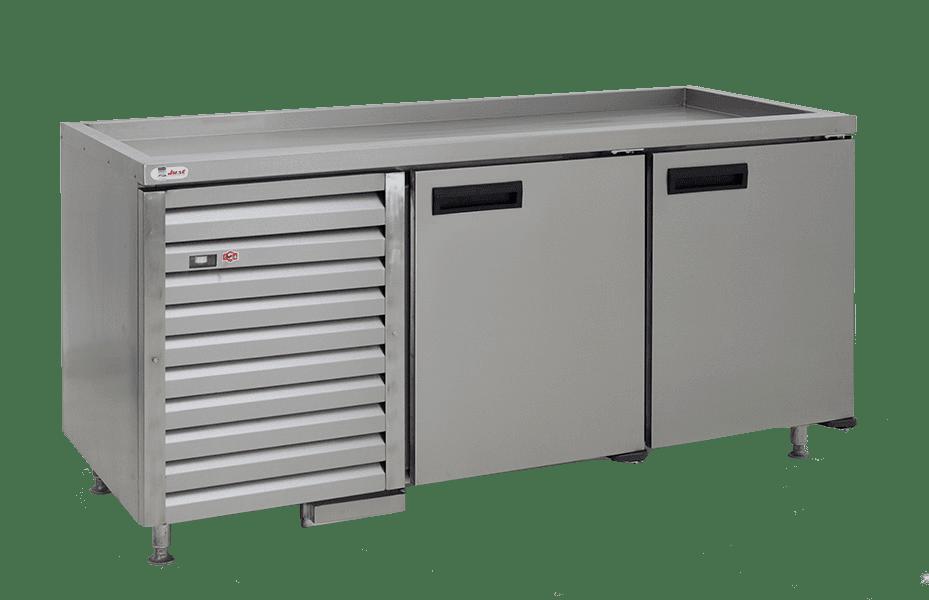 stainless steel commercial fridge silver QUB6PLT-2
