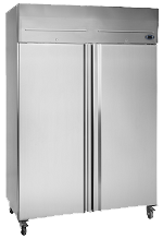 small commercial fridge silver RF1010