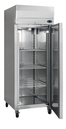single door stainless steel commercial fridge on wheels