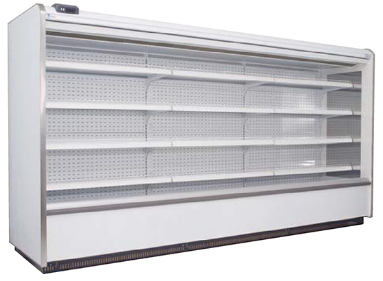 commercial meat fridge with no meat inside it