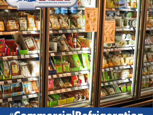 commercial refrigeration with food inside