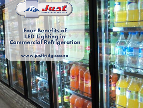 Commercial fridges with LED lights in them