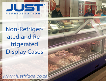 non refrigerated and refrigerated display cases