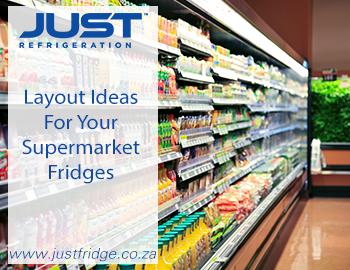 supermarket fridge with juice