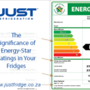 the South African energy star rating chart and key