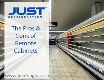 Empty Remote Cabinet Refrigerators in a Store