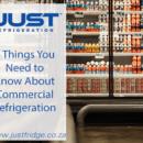 Commercial fridge in supermarket displaying yogurt